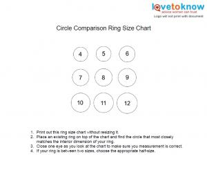 graphic relating to Printable Ring Sizes named Printable Ring Measurement Chart LoveToKnow