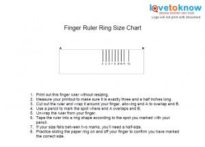 picture regarding Printable Ring Size named Printable Ring Sizing Chart LoveToKnow
