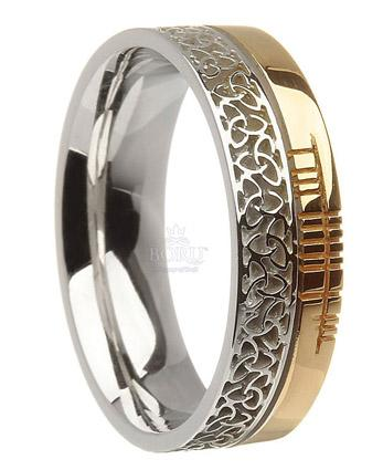 irish creations collection faith ogham celtic wedding bands rings