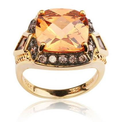 Champagne and Brown Cubic Zirconia Ring from Joolwe