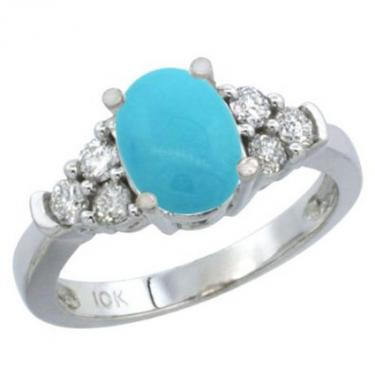 white gold diamond and turquoise ring - Turquoise Wedding Rings