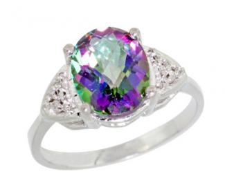 product ring silver black rings topaz mystic s square hadean