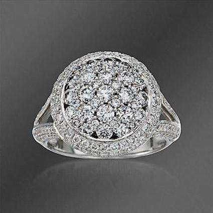 Ross-Simons Pave Diamond Dome Ring