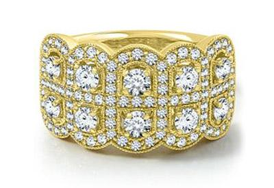 Yellow Gold Milgrain Band from Helzberg Diamonds