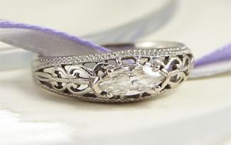 filigree engagement ring - Filigree Wedding Rings