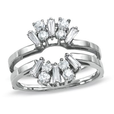 white gold and diamond ring guard from zales - Wedding Ring Guards