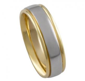 men's two-tone ring
