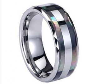 8mm Comfort fit men's tungsten ring