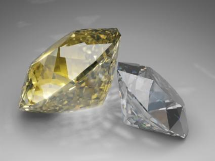 Yellow and White Diamonds