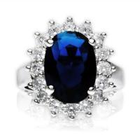 Faux Princess Di Sapphire Engagement Ring