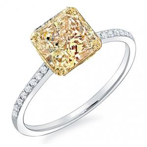 1.40 Ct. Canary Fancy Radiant Cut Solitaire