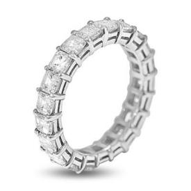 Asscher eternity band