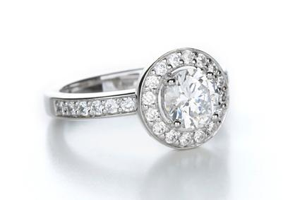 Round Channel Set Engagement Ring