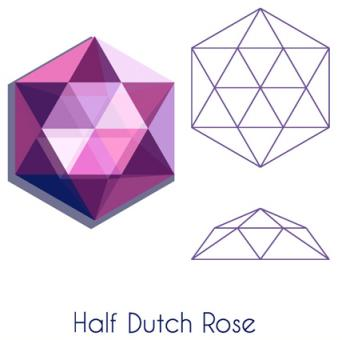 Illustration of a half Dutch rose cut gem