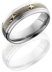 Mokume Gane Titanium Wedding Band at Amazon.com