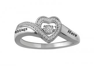 Personalize Your Diamonds in Rhythm 1/10 Ct tw Heart Ring