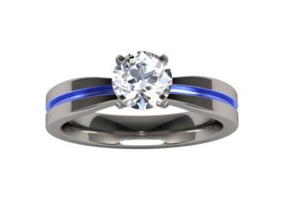 electra solitaire gem titanium ring - Titanium Wedding Rings For Her