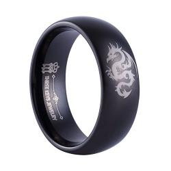 Etched Dragon Wedding Band