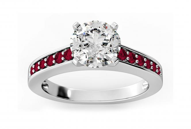 Photos Of Engagement Rings With Ruby Accents Lovetoknow