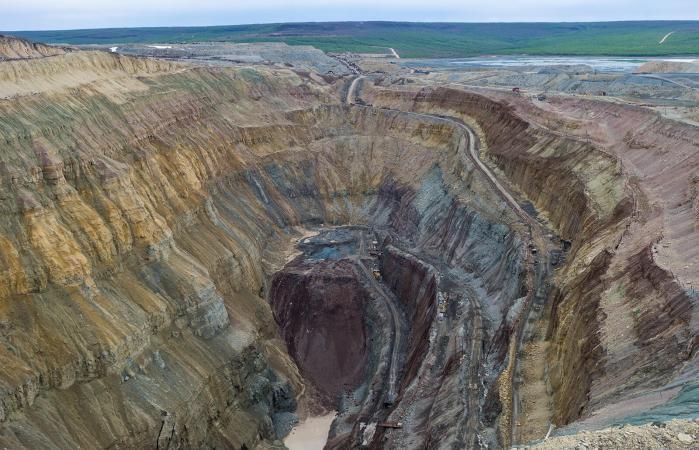 Diamond mining pit