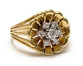 Floral figural engagement ring