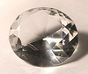 Image of a round cut cubic zirconia