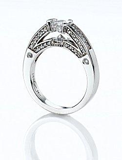 Image of a designer engagement ring
