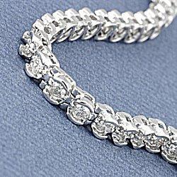 Partial Bezel Setting Bracelet