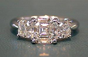 three gold engagement royal diamond ct in prices asscher tw slash stone on ring white shop