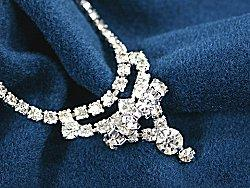 Elaborate cubic zirconia necklace