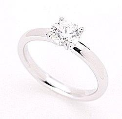 White gold solitaire.