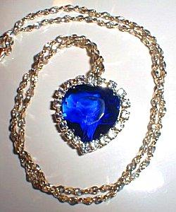 Heart of the Ocean blue diamond necklace