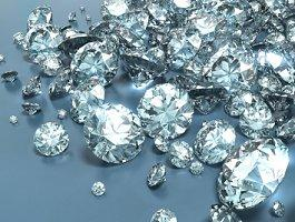 Loose round diamonds of various weights