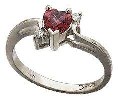 Garnet Promise Ring from Amazon.com