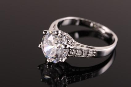Designer engagement ring with elegant setting
