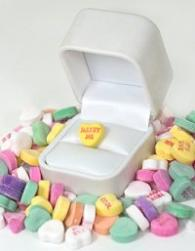 Marry Me candy heart in a ring box