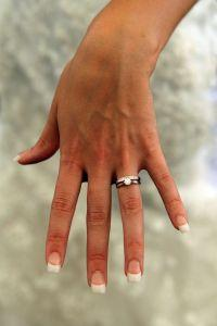 Wedding ring on left hand ring finger