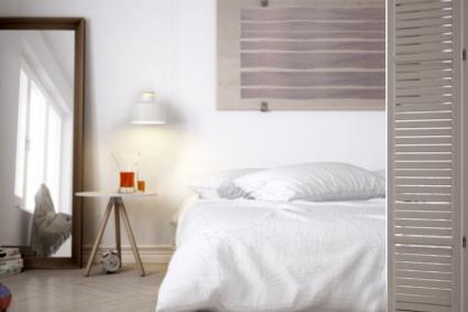 Habitación moderna y minimalista