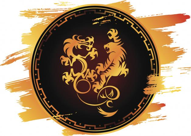 El dragón y tigre en el arte chino