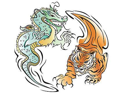 dragón y tigre yin yang