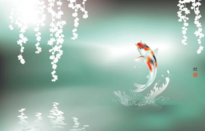 Arte de pez Koi