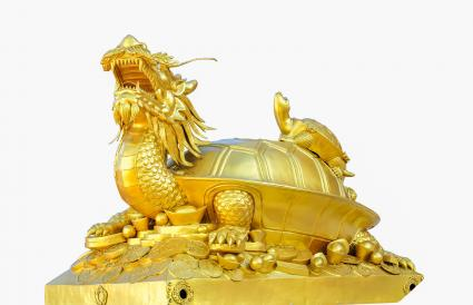 tortuga dragón del feng shui