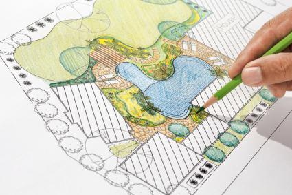 diseñando un estanque de peces