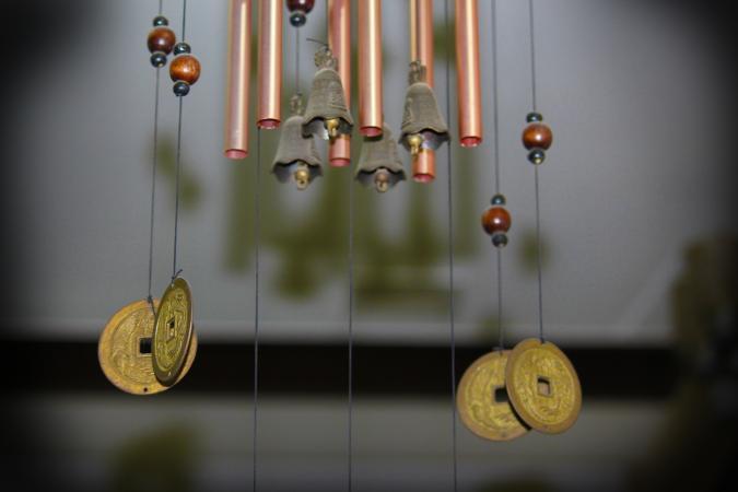 Carillones de viento con monedas