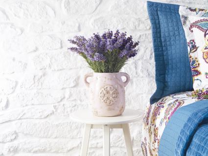 Habitación con flores frescas de lavanda