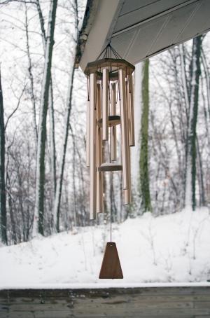 Campanas de viento en invierno