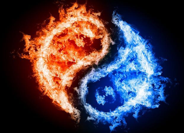 Fuego y Agua Yin Yang