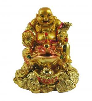 Buda sobre la Rana del Dinero
