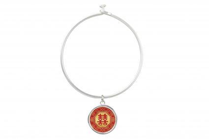 Pulsera del símbolo de la doble felicidad Feng Shui