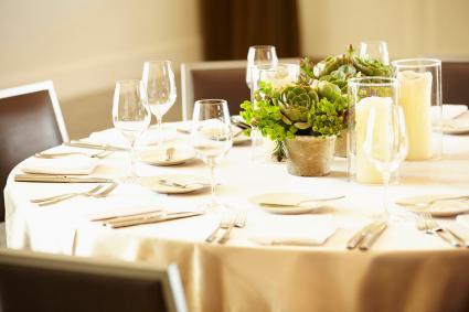 Elegante comedor de banquetes
